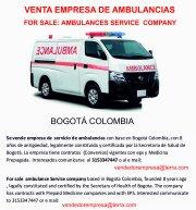 Se Vende empresa de Servicios de Ambulancia en Bogotá.