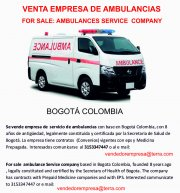 Se Vende empresa de Servicios de Ambulancia