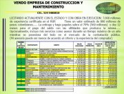 Vendo empresa de Construcción y Mantenimiento